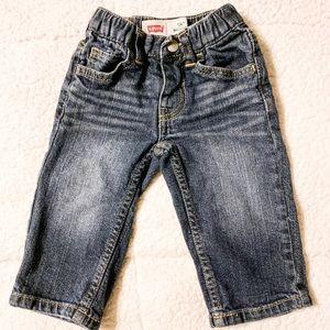 Boy's Dark Wash 526 Regular Levi Jeans-12M
